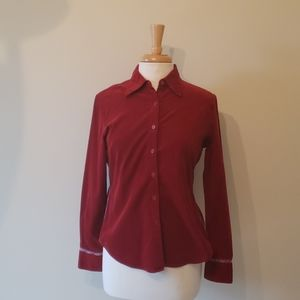 Faconnable red corduroy shirt size s